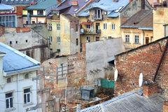 Slums in the city Royalty Free Stock Photography