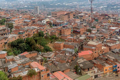 Slums in the city of Medellin, Colombia.  Royalty Free Stock Photography