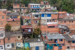 Slums in the city of Medellin, Colombia.  Royalty Free Stock Image