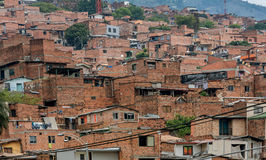 Slums in the city of Medellin, Colombia.  Stock Photos