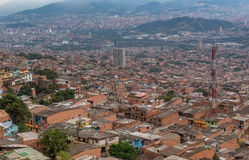 Slums in the city of Medellin, Colombia.  Stock Photo