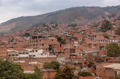 Slums in the city of Medellin, Colombia.  Royalty Free Stock Images