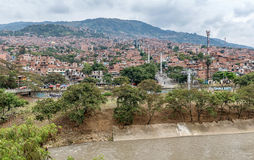 Slums in the city of Medellin, Colombia.  Stock Photography