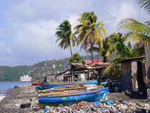 Slums in Dominica. Caribbean. Royalty Free Stock Photography