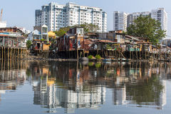 Slums in Ho Chi Minh city. Royalty Free Stock Images
