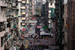 The slums of Hong Kong royalty free stock image