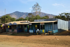 The slums hotel in Kenya. Africa Stock Image