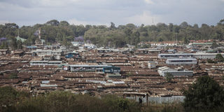 Slums of kibera, kenya. Overview of slums of kibera, kenya stock image