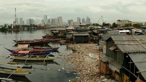 Slums and poor district of the city of Manila.