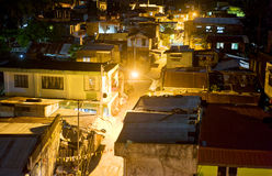 Slums at night. Aerial view on slums at night in Legaspi city, Philippines Royalty Free Stock Images