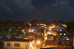 Slums in the night, Philippines. Top view on slums at night in Legaspi city, Philippines Stock Images