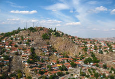 Slums of red roof houses in Ankara Royalty Free Stock Image