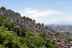 Slums of Rio de Janeiro. Slums spreading across the landscape Stock Photos