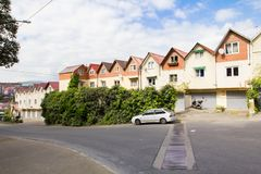 Slums in Sochi. Residential garages Royalty Free Stock Photo