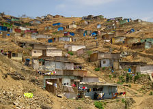 Slums, South America. Shanty Town in  Lima, Peru, South America Royalty Free Stock Photography