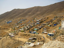 Slums, South America, Lima Royalty Free Stock Photography