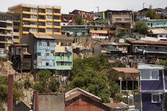Slums in Valparaiso Stock Photography