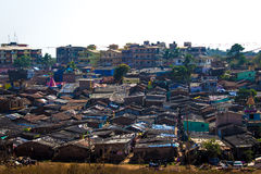 Slums of vasco goa india Stock Image