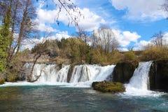 Slunj Wasserfälle stockbilder