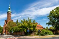 Free Slupsk, Pomorskie / Poland - June, 3, 2020: Catholic Church In The City Center. Catholic Temple In Central Europe Royalty Free Stock Photos - 185405868