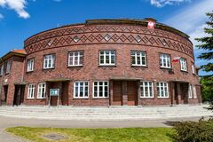 Free Slupsk, Pomorskie / Poland - June, 3, 2020: Old Building Of The Pedagogical Library. Old Tenement House In Central Europe Royalty Free Stock Images - 185405869