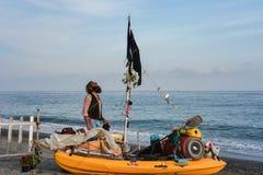 Slurp de Piraat van Tarquinia Viterbo Italië stock foto