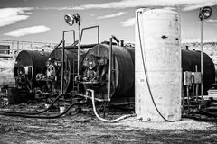 Slurry Mixers. Oil mixers used in the mixing of asphalt Royalty Free Stock Images