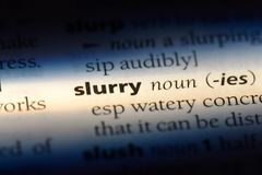 slurry royalty free stock photo