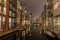 Sluseholmen在哥本哈根港口看起来象阿姆斯特丹 免版税库存图片