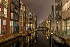 Sluseholmen in Copenhagen harbor looks like Amsterdam Royalty Free Stock Images