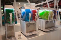 Slush machines at Host 2013 in Milan, Italy Royalty Free Stock Photography