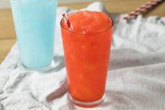 Slushies rojo y azul congelado Fotografía de archivo libre de regalías