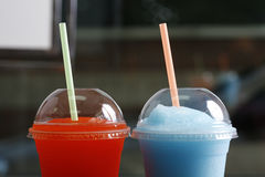 Slushy. Cold and fresh slushy for kids at school time Royalty Free Stock Photo