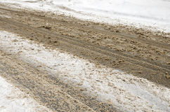 Slushy Road royalty free stock images