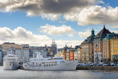 Slussen and the old town from the seaside Stock Image