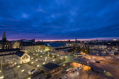 Slussen view Stockholm Royalty Free Stock Photo