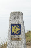 Slut av Camino de Santiago Royaltyfria Foton