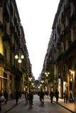 Slut av dagen i Barcelona, Spanien Royaltyfri Fotografi