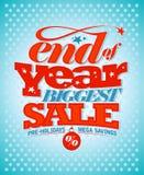 Slut av den årspre-ferier försäljningen royaltyfri illustrationer