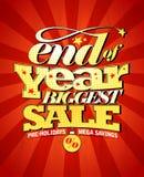 Slut av den största försäljningsdesignen för år stock illustrationer
