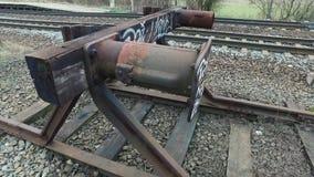 Slut av järnvägsspåret arkivfilmer