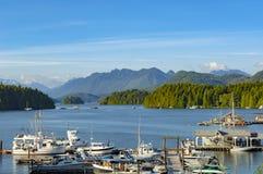 Slut av kanadensareinsidapassagen, kust- rutt, Vancouver ö, Kanada Arkivbilder