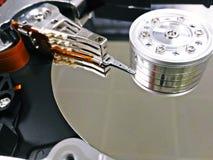 Slut av maskinvara för mekanism för harddisk` s inre Royaltyfria Foton
