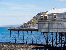 Slut av pir, Aberystwyth Fotografering för Bildbyråer