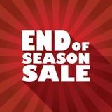 Slut av säsongförsäljningsaffischen med djärv typografi Fotografering för Bildbyråer