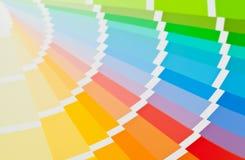 Slut för handbok för färgdiagram upp fotografering för bildbyråer