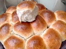 Slut för hemlagat bröd fotografering för bildbyråer