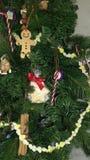 Slut för julkökträd upp Royaltyfri Bild
