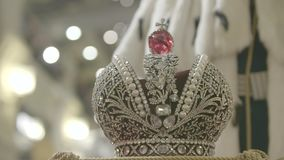 Slut för krona för konung` s upp lager videofilmer