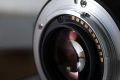 Slut för lins för Digital kamera upp Arkivbild
